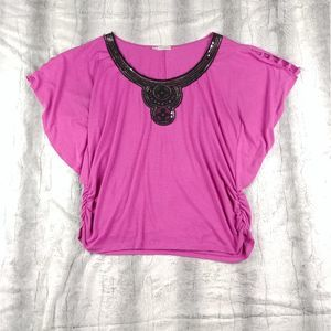 Maurices Loose Magenta Blouse Size 2X